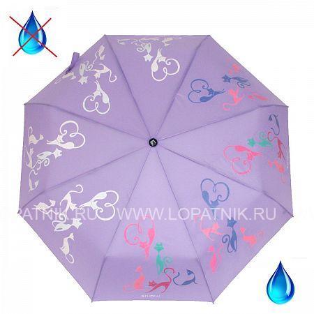 Купить Зонт автомат женский FLIORAJ 210614 FJ, Фиолетовый, Полиэстер (тканевый)