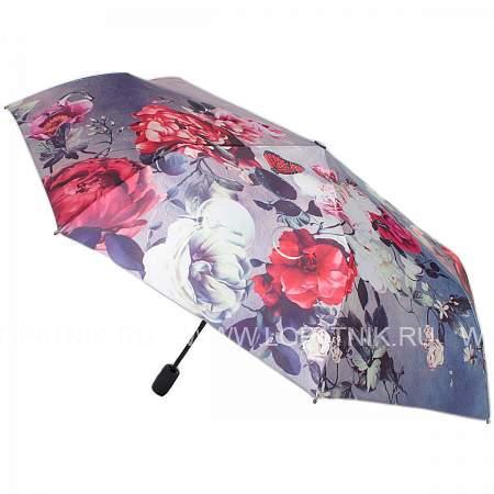 Купить Зонт автомат женский FLIORAJ 231215 NEW FJ, Фиолетовый, Серый, Разноцветный, Полиэстер (тканевый)