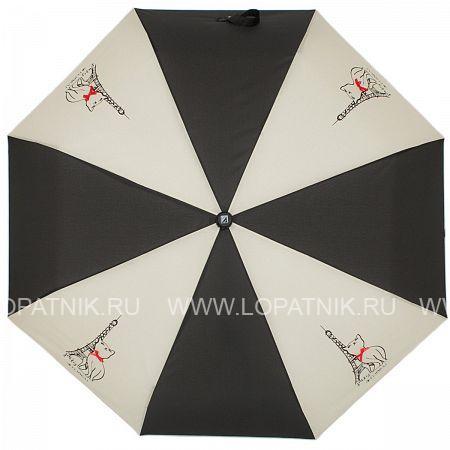 Купить Зонт автомат женский FLIORAJ 310200 FJ, Черный, Серый, Полиэстер (тканевый)