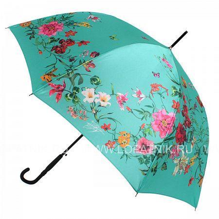 Купить Зонт трость женский FLIORAJ 050216 FJ, Зеленый, Разноцветный, Полиэстер (тканевый)