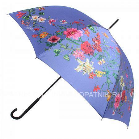 Купить Зонт трость женский FLIORAJ 050218 FJ, Синий, Разноцветный, Полиэстер (тканевый)
