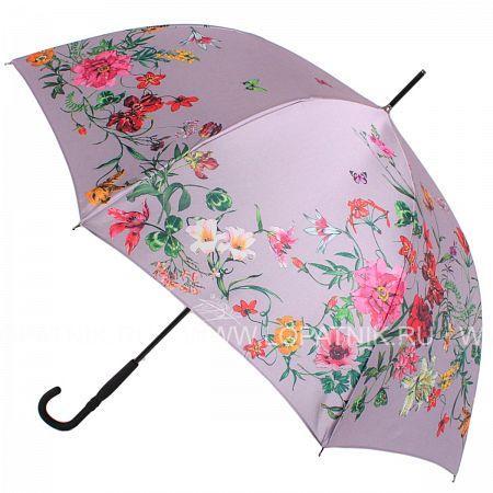 Купить Зонт трость женский FLIORAJ 050219 FJ, Розовый, Разноцветный, Полиэстер (тканевый)