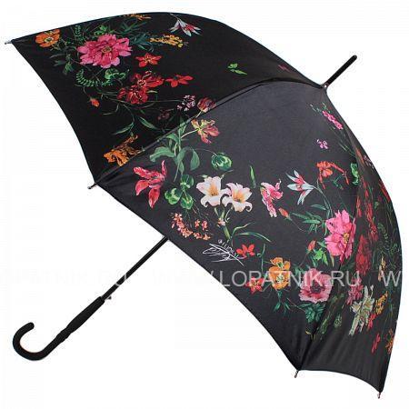 Купить Зонт трость женский FLIORAJ 050220 FJ, Черный, Разноцветный, Полиэстер (тканевый)