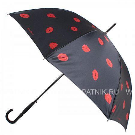 Купить Зонт трость женский FLIORAJ 050222 FJ, Красный, Черный, Полиэстер (тканевый)