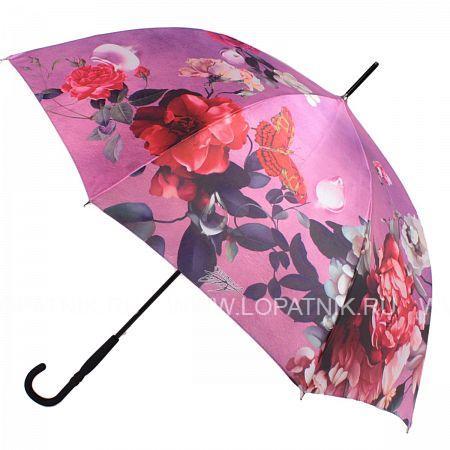Купить Зонт трость женский FLIORAJ 061214 FJ, Красный, Розовый, Разноцветный, Полиэстер (тканевый)