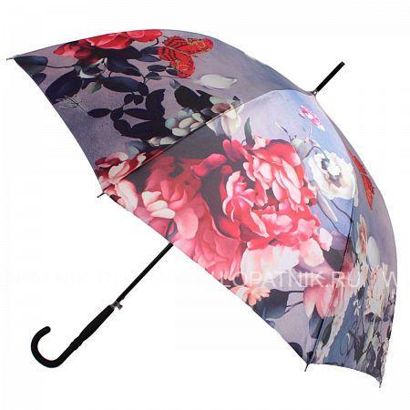Купить Зонт трость женский FLIORAJ 061215 FJ, Фиолетовый, Разноцветный, Полиэстер (тканевый)