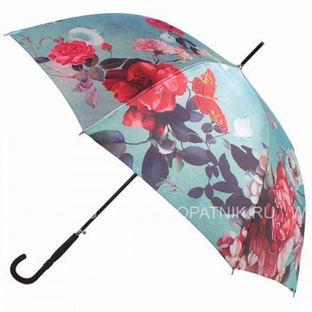 Купить Зонт трость женский FLIORAJ 061216 FJ, Зеленый, Разноцветный, Полиэстер (тканевый)