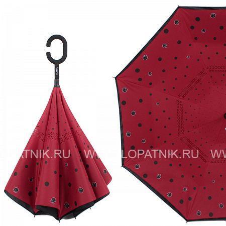 Купить Зонт трость-двусторонний женский FLIORAJ 120007 FJ, Красный, Черный, Полиэстер (тканевый)