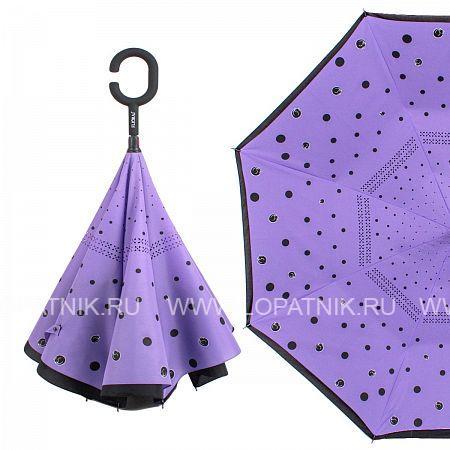 Купить Зонт трость-двусторонний женский FLIORAJ 120010 FJ, Фиолетовый, Черный, Полиэстер (тканевый)