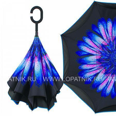 Купить Зонт складной женский FLIORAJ 120019/2 FJ, Синий, Розовый, Черный, Полиэстер (тканевый)