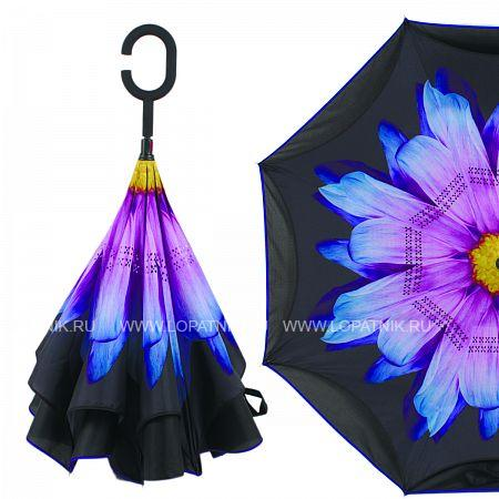 Купить Зонт складной женский FLIORAJ 120020/2 FJ, Черный, Разноцветный, Полиэстер (тканевый)