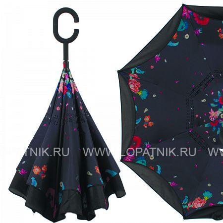 Купить Зонт складной женский FLIORAJ 120023/2 FJ, Черный, Разноцветный, Полиэстер (тканевый)