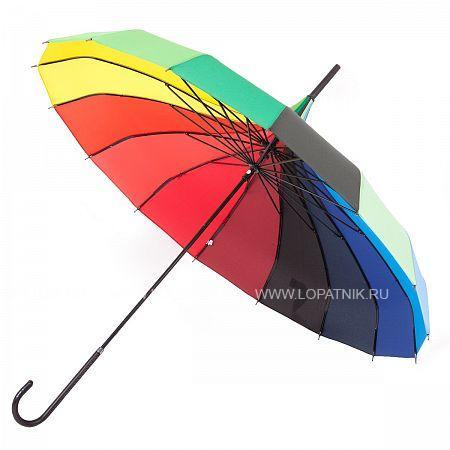 Купить Зонт-трость механический женский FLIORAJ 121201/1 FJ, Разноцветный, Полиэстер (тканевый)