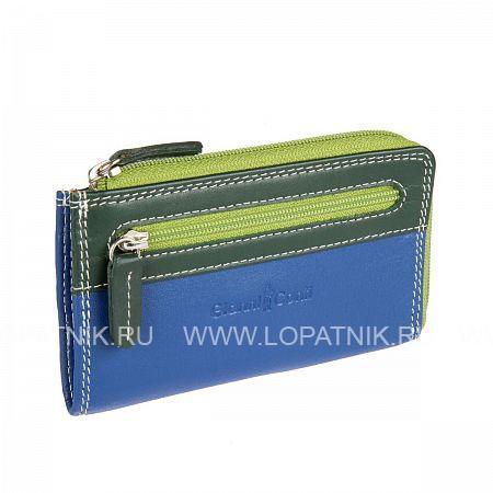 Купить Ключница кожаная женская GIANNI CONTI 1809184 EL.BLUE MULTI, Синий, Зеленый, Натуральная кожа