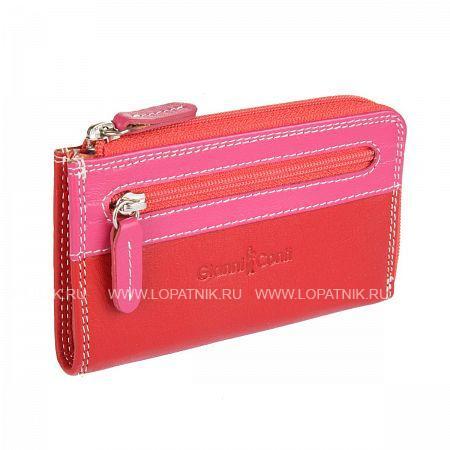 Купить Ключница кожаная женская GIANNI CONTI 1809184 EL.RED MULTI, Красный, Розовый, Натуральная кожа