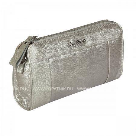 Купить Женский кожаный клатч SERGIO BELOTTI 22 SILVER, Серебряный, Натуральная кожа
