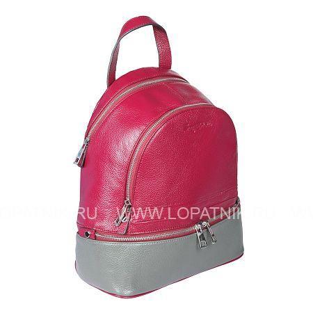 Купить Рюкзак кожаный женский SERGIO BELOTTI 09-58/57 DARK RED, Красный, Серый, Натуральная кожа