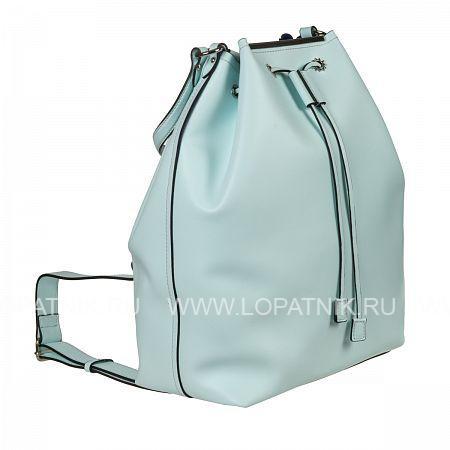 Купить Рюкзак кожаный женский GIANNI CONTI 1784657 AQUAMARINE, Голубой, Натуральная кожа