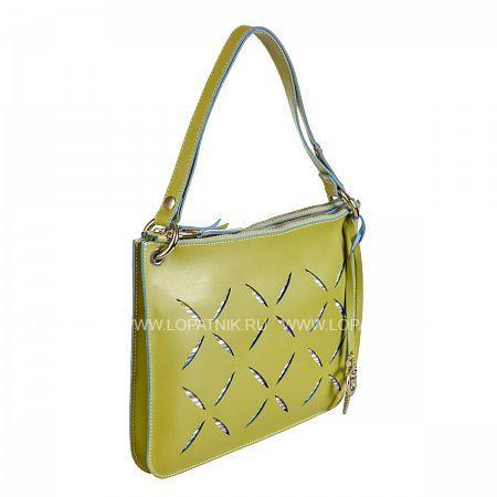 Купить Сумка кожаная женская GIANNI CONTI 1784427 KIWI, Зеленый, Натуральная кожа