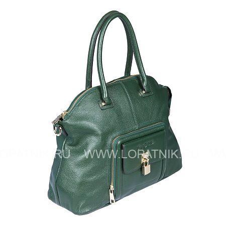 Купить Сумка кожаная женская SERGIO BELOTTI 302-21 GRASS GREEN, Зеленый, Натуральная кожа