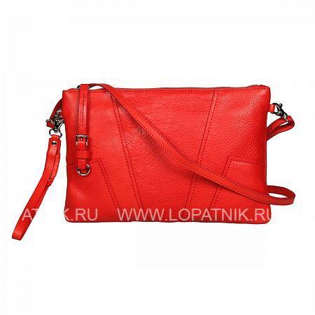 Купить Сумка кожаная женская GIANNI CONTI 784667 CORAL, Красный, Натуральная кожа