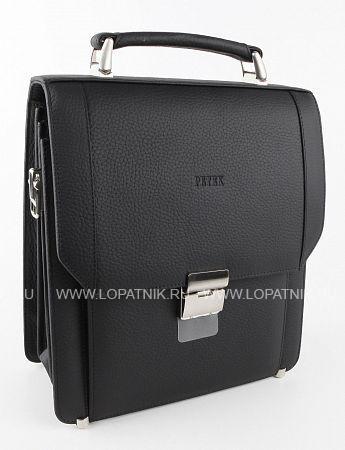 Купить Сумка-планшет мужская кожаная PETEK 848.234.01, Черный, Натуральная кожа
