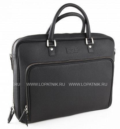 Купить Бизнес-сумка из натуральной кожи PETEK 3868.234.01, Черный, Натуральная кожа