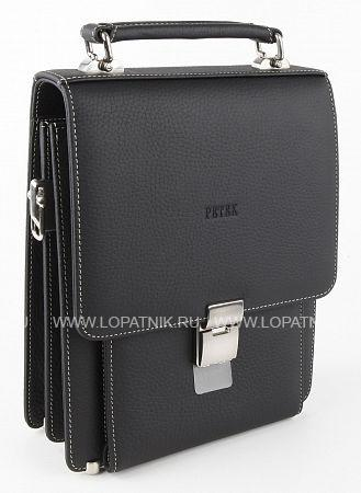 Купить Сумка-планшет мужская кожаная PETEK 766.234.KD1, Черный, Натуральная кожа