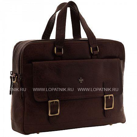Купить Сумка-портфель мужская кожаная VASHERON 9763-N.VEGETTA BROWN, Коричневый, Натуральная кожа