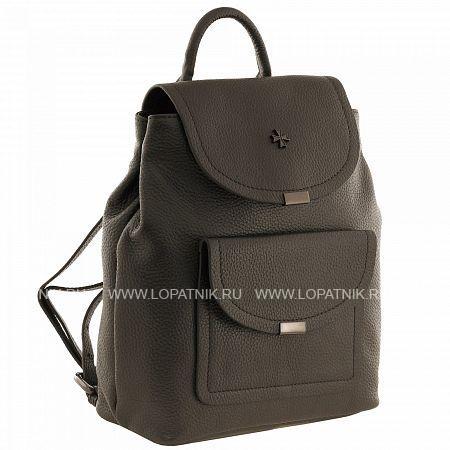 Купить Рюкзак женский кожаный VASHERON 9940-N.GUNMETAL, Черный, Серый, Натуральная кожа