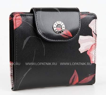 Купить Портмоне женское кожаное PETEK 346.530.01, Черный, Натуральная кожа