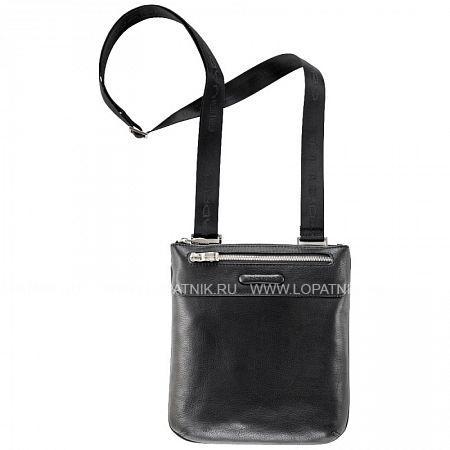 Купить Сумка вертикальная с плечевым ремнем PIQUADRO CA1358MO/N, Черный, Натуральная кожа