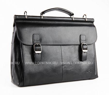 Купить Портфель с съемным плечевым ремнем TONY PEROTTI 331464/1, Черный, Натуральная кожа