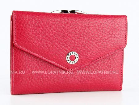 Купить Кошелек женский PETEK 308.46B.44, Красный, Розовый, Натуральная кожа