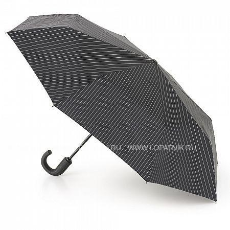 Купить Зонт складной мужской FULTON G818-2162 BLACKSTEEL, Белый, Серый
