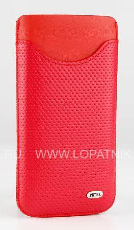 Купить Чехол для IPhone PETEK 2013.176.10, Красный, Натуральная кожа