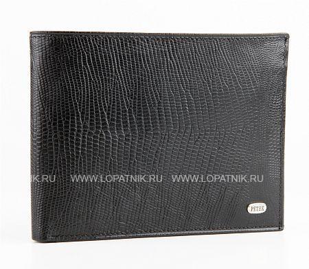 Купить Портмоне мужское PETEK 220.041.01, Черный, Натуральная кожа