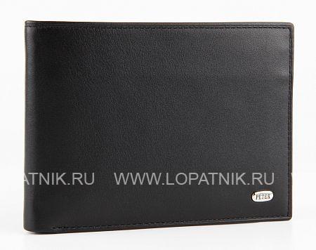 Купить Портмоне мужское PETEK 108.000.01, Черный, Натуральная кожа