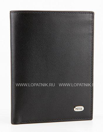 Купить Портмоне мужское PETEK 184.000.01, Черный, Натуральная кожа