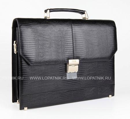 Купить Портфель со съемным плечевым ремнем PETEK 791.041.01, Черный, Натуральная кожа