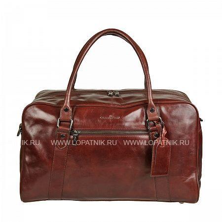 Купить Сумка дорожная GIANNI CONTI 702084 DARK BROWN, Коричневый, Натуральная кожа
