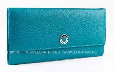 Купить Кошелек женский PETEK 301.46B.32, Голубой, Натуральная кожа