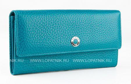 Купить Кошелек женский PETEK 440.46B.32, Голубой, Натуральная кожа