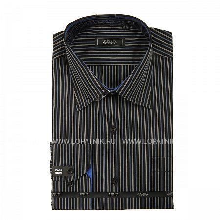 Купить Сорочка мужская CONTI UOMO X719-1-06, Синий, Черный, Серый