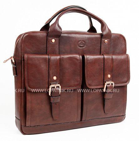 Купить Портфель со съемным плечевым ремнем TONY PEROTTI 743389/2, Коричневый, Натуральная кожа