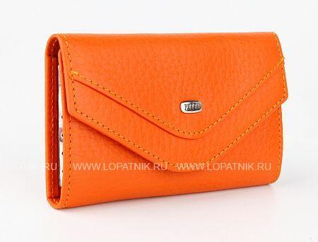 Купить Ключница кожаная женская PETEK 526.46D.24, Оранжевый, Натуральная кожа