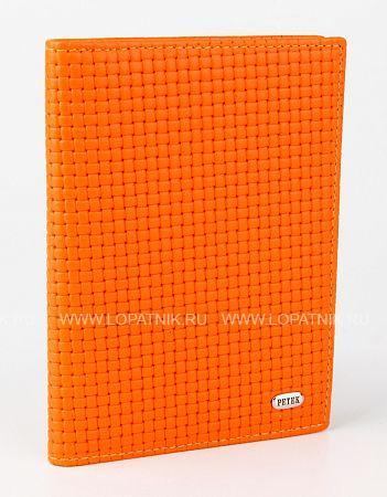 Купить Обложка для автодокументов PETEK 584.020.89, Оранжевый, Натуральная кожа