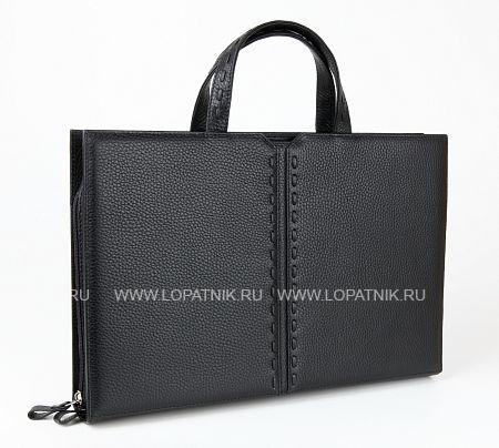 Купить Портфель PETEK 812.46D.01, Черный, Натуральная кожа
