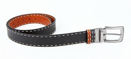 Купить Ремень мужской PETEK 4025509004.255.A44, Оранжевый, Черный, Натуральная кожа