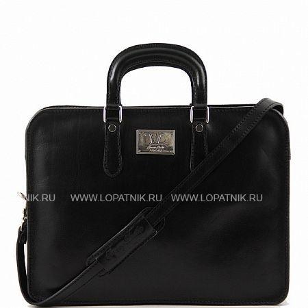 Купить Портфель со съемным плечевым ремнем TUSCANY TL140961-1, Черный, Натуральная кожа